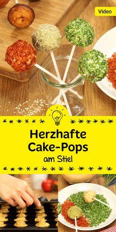 Cake-Pops mal anders: diese herzhaften Kuchen am Stiel sind der Hingucker auf…