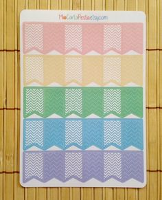 Pastel Page Flag Stickers by MioCartaPesta