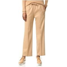 Joseph Lula Pants ($400) ❤ liked on Polyvore featuring pants, camel, slouch trousers, slouch pants, beige pants, saggy pants and wool pants