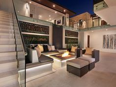 Built-In Fire Pit - 20 Backyard Fire Pit Design Ideas on HGTV