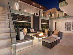 Built-In Fire Pit - 20 Backyard Fire Pit Design Ideas on HGTV