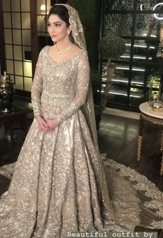 Valima bride - Valima bride Source by - Indian Wedding Gowns, Pakistani Wedding Outfits, Indian Bridal Lehenga, Pakistani Bridal Dresses, Pakistani Wedding Dresses, Indian Outfits, Nikkah Dress, Shadi Dresses, Pakistani Formal Dresses
