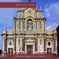 La chiesa di Sant'Agata Duomo di #Catania venne ricostruita nel 1711 dopo essere stata colpita dal sisma grazie allarchitetto Gian Battista Vaccarini che realizzò la facciata nel tipico stile del siciliano.
