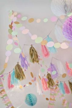 The Little Big Company 's Birthday / Mermaid Party - Photo Gallery at Catch My Party Rainbow Birthday, Mermaid Birthday, Unicorn Birthday Parties, Unicorn Party, Gender Reveal Party Decorations, Birthday Party Decorations Diy, Pastel Party Decorations, Party Props, Party Ideas