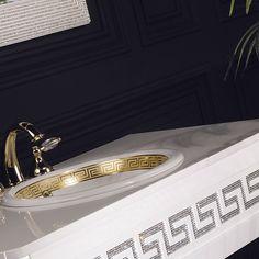 Avantgarde diamond vanity with Swarovski crystal from topex design. #vanities #basins