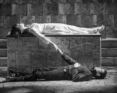 Lily James and Richard Madden in Romeo and Juliet at The Garrick Theatre.