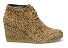 Cheetah Suede Women's Desert Wedges | TOMS.com #toms must get these for fall....