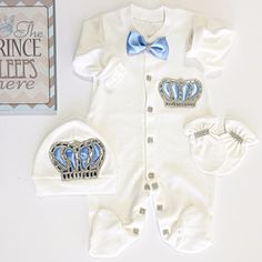 Crown Jewels in Baby Blue Set - Itty Bitty Toes  - 3