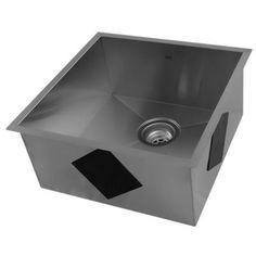 Acri-tec Industries 21160 Platinum Collection Undermount Single Basin Kitchen Sink, Stainless Steel