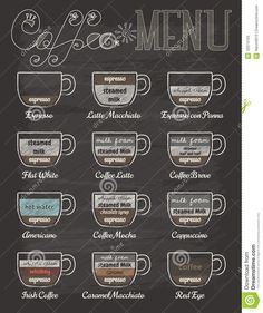 Set Of Coffee Menu In Vintage Style With Chalkboard - Download From Over 40 Million High Quality Stock Photos, Images, Vectors. Sign up for FREE today. Image: 42974723