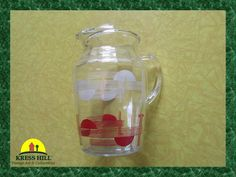 I hope the pictures do this pitcher justice! :) Very nice graphics on the pitcher.....they have not faded at all over the years.....and there