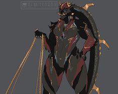 ArtStation - Rauta, Demitsorou V Alien Character, Character Concept, Character Art, Fantasy Characters, Female Characters, Warframe Characters, Toriel Undertale, Amazonian Warrior, Warrior Girl