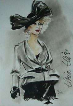 Fashion illustration inspired by the couture collections of the great designers…