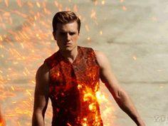 Peeta Mellark tributes parade in Catching Fire