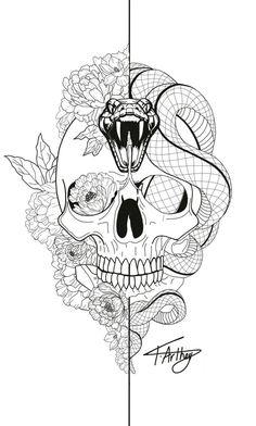 Snake Tattoo Meanings Itattoodesigns Com - Rose And Snake Tattoos A Rose By Anot., - Snake Tattoo Meanings Itattoodesigns Com – Rose And Snake Tattoos A Rose By Anot…, - Tatto Skull, Skull Tattoo Design, Tattoo Design Drawings, Tattoo Sketches, Tattoo Designs, Tattoo Ideas, Drawing Tattoos, Skull Drawings, Tattoo Themes