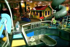 The Discovery Center in Murfreesboro, TN - There's a 2-story super slide, a farmer's market that lets kids simulate buying groceries, a real fire truck to climb inside, a massive Water Works table, a mechanic shop, a wonderful Tiny Town built especially for preschoolers, and more.