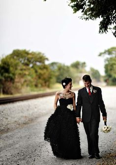 black wedding dress. I would never but I feel like I know some badass woman who could/would!!!