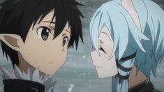 Sword Art Online - Kirito Sinon. I really don't think she knows about asuna  and kirito