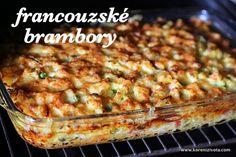 Francouzské brambory do křupava zapečené se smetanou a sýrem Pork Tenderloin Recipes, Fruit Smoothies, Main Meals, Good Food, Food And Drink, Menu, Potatoes, Treats, Homemade