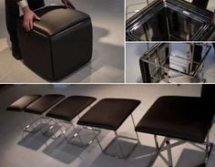 5 chairs in one cube -- Resource Furniture / smart furniture