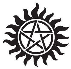 [Single Count] Custom and Unique Inches) Round Supernatural Magical Pagan Anti Possession Pentagram Sun Symbol Iron On Embroidered Applique Patch {Black and Red Colors} The Supernatural, Supernatural Anti Possession Tattoo, Supernatural Pentagram, Anti Possession Symbol, Supernatural Tattoo, Supernatural Wallpaper, Spn Tattoo, Supernatural Symbols, Demon Possession