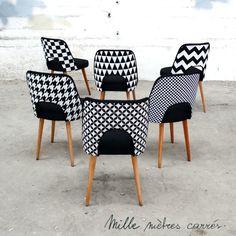 La nouvelle collection printemps/été de Mille mètres carrés ! - Mille mètres carrés Colorful Furniture, Unique Furniture, Painted Furniture, Furniture Design, Chaise Rococo, Rococo Chair, Dinning Chairs, Side Chairs, Home Design Blogs