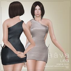 Bava Lea Dress, 6 Variations - Demo available - 6 recolors - 88L each - 188L Fatpack