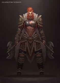 ArtStation – gladiator woman, Jaemin Yoo – My CMS Fantasy Female Warrior, Fantasy Armor, Fantasy Women, Fantasy Girl, Woman Warrior, Dark Fantasy, Dungeons And Dragons Characters, Dnd Characters, Fantasy Characters