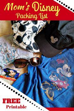 Mom's Disney Packing List - FREE Printable!