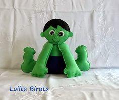 Hulk em feltro para centro de mesa