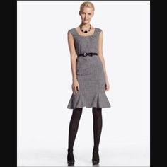 WHBM Flounce-hem Dress Out of Stock! Perfect condition and dry cleaned! Worn one time for an event. No longer fits me. Comes WITH belt and can be removed! So pretty! Smoke free home. Enjoy! White House Black Market Dresses Strapless