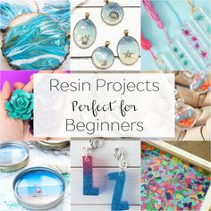 Fabulous Beginner Resin Projects to Try - Resin Crafts Diy Resin Art, Diy Resin Crafts, Wood Resin, Diy Resin Crystals, Crystal Resin, Crystal Jewelry, Diy Resin Projects, How To Make Resin, Resin Jewelry Making
