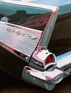 Realistic Old Polished Cars Paintings -3b