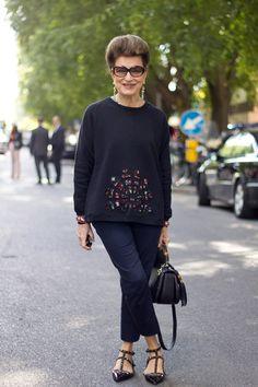 New Post! New Post! The Elegant Costanza Pascolato from Vogue Brazil!