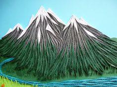 Papírvilág: quilling tájkép / quilled mountain landscape