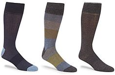 Gold Label Roundtree & Yorke Big & Tall Color Block Combo Crew Dress Socks 3-Pack Mens Big And Tall, Big & Tall, Gold Labels, Dress Socks, Stylish, Color, Fashion, Moda, Fashion Styles