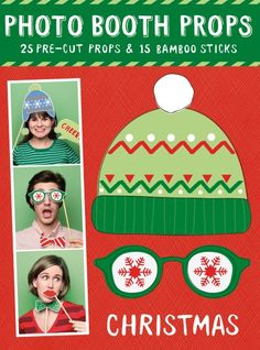 Christmas Party Photobooth Props  // follow us on fb: https://www.facebook.com/Papiermier