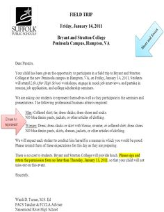 School Trip Letter Cambridge Field Trips More Sample Permission Visit Images