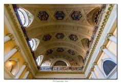 Torino - Stazione di Porta Nuova - Soffitto dell'antica biglietteria