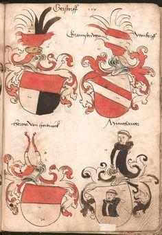 Wernigeroder (Schaffhausensches) Wappenbuch Süddeutschland, 4. Viertel 15. Jh. Cod.icon. 308 n  Folio 127r