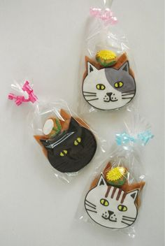 Japanese cat cookies ★ More on #cats - Get Ozzi Cat Magazine here >> http://OzziCat.com.au ★