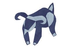 "Fusión de animales 07 ""Cabra que quería ser un funyarinpa"" en papel de diario."
