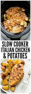 Slow Cooker Italian Chicken and Potatoes is such a...