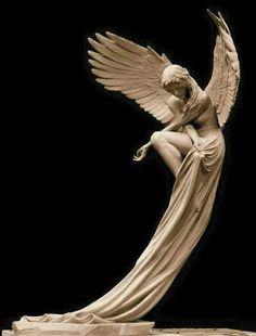 """""""The Angel"""" bronze sculpture by Benjamin Victor. Statue Ange, Fantasy Kunst, Angel Art, Bronze Sculpture, Wood Sculpture, Oeuvre D'art, Art Inspo, Amazing Art, Art Reference"""