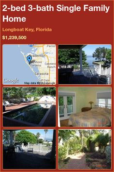 2-bed 3-bath Single Family Home in Longboat Key, Florida ►$1,239,500 #PropertyForSale #RealEstate #Florida http://florida-magic.com/properties/1237-single-family-home-for-sale-in-longboat-key-florida-with-2-bedroom-3-bathroom