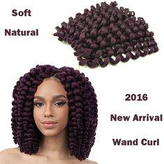 "8"" Wand Curl Afro Kinky Curly Hair Jumbo Braid Kanekalon Braids Hair Extension Prices Wand Curl Crochet Braids Hair Extension"