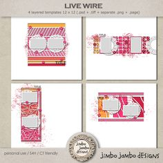 Live wire :: Jimbo Jambo Designs :: Shop by Designer :: Memory Scraps