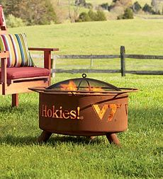 College-themed fire pit is perfect for crisp, Fall game days! VT