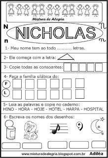 Brincando com os nomes -Nicholas