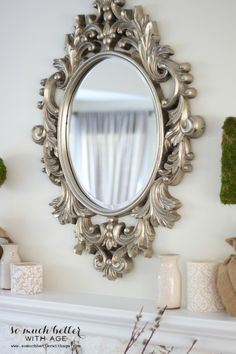 My+New+French+Mirror IKEA has this mirror that can be carefully painted silver and get this look.